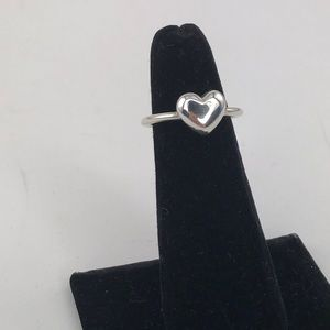 Tiffany & Co Sterling Silver Solid Heart Ring
